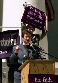 Rev Dr. Ragsdale, several years ago, at a Rally opposing the Right to Life for Children in the Womb and calling the taking of their lives 'pro-family' and 'pro-faith'