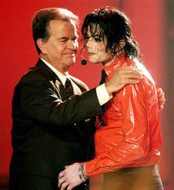Dick Clark, pictured with Michael Jackson, ushered a host of popular musicians into America's living rooms with 'American Bandstand.' Clark has passed away at the age of 82.