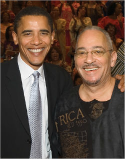 Obama and his then pastor, Jeremiah Wright.