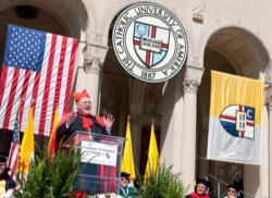 Cardinal Dolan speaks at CUA commencement