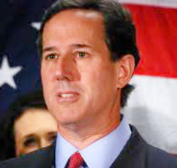Former GOP presidential candidate Rick Santorum is urging Republican candidate Mitt Romney to 'step up' and 'weaponize' the issue of same-sex marriage. 'This is a very potent weapon, if you will, for Governor Romney if he's willing to step up and take advantage of a president who is very much out of touch with the values of America.'