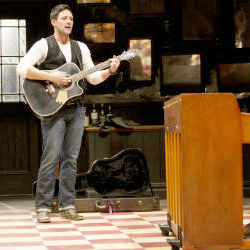 Tony Award-winning Best actor Steve Kazee batted back tears as he thanked his cast members. Kazee said after his mother died early on in performances of 'Once,' his fellow performers 'carried me around and made me feel alive and I will never be able to fully repay them.'
