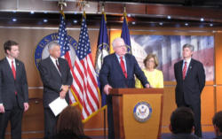 On Tuesday, January 10, 2012, the Religious Freedom Tax Repeal Act was unveiled at a press conference held by Representative James Sensenbrennner (R-Wis.) and Representative Diane Black (R-Tenn.).