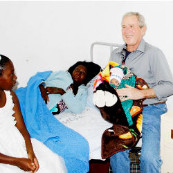 Former U.S. President George W. Bush has taken on a new role as an advocate for women's health in Africa. Both he and his wife Laura Bush have recently opened a women's health clinic in Kabwe, Zambia.