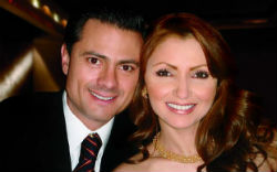 Mexico's new President, Enrique Nieto with his wife, Angelica Rivera.