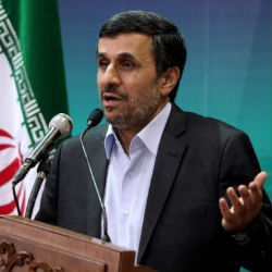 Among other claims, Iranian President Ahmadinejad has called the Holocaust a myth and previously called for Israel's annihilation in a 2005 speech in which he used a Persian phrase that translates literally as 'wiped off the page of time.'