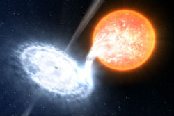 According to astronomers, as a star is shredded by a black hole, it appears to emit a 'death cry.'