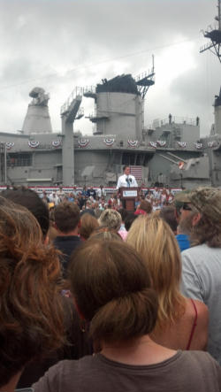 Mitt Romney in Norfolk, Virginia introducing Congressman Paul Ryan as his running mate