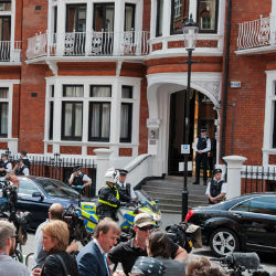 The British maintain that one of their laws allows for the country to enter the embassy and arrest WikiLeaks' Julian Assange.