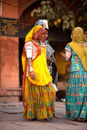 Traditional Rajasthani women from India
