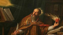 The 'restless heart' of St Augustine is depicted