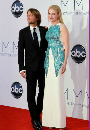 Keith Urban and Nicole Kidman at the 64th Annual Primetime Emmy Awards