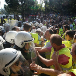 The chief difference this time is instead of the expected under-employed youth protesting -- who comprise the majority of Greek's jobless -- many firefighters, police and coast guard personnel are now included in the throng.