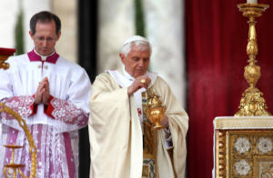 Pope Benedict XVI at Mass