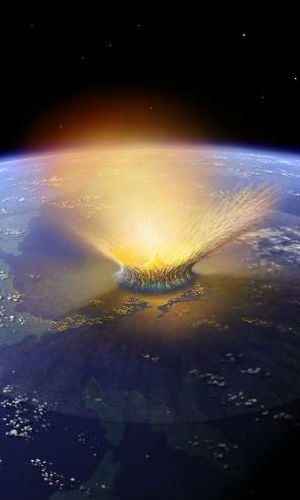 More than 65 million years ago, some claim that a huge asteroid plunged into the earth in Mexico. Many species became extinct, including the dinosaurs, thus ending the Cretaceous Period of Earth history.