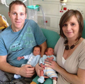 As Oliver and Finley Wroe, as the boys were later named, were sharing the same placenta, the couple decided they had to go ahead with the surgery. Although the boys were born prematurely, Oliver and Finley were delivered safely by Caesarean section last month.