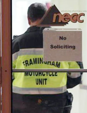 Raiding NECC's facility in Massachusetts, the company that shipped the vials, FDA officials say that inspections of the facility made them worry about the sterility of any of the pharmacy's products.