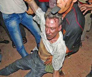 Proof the attacks in Benghazi were terrorist events was taken from them number of heavy weapons and homemade bombs brought to the embassy. Photo (US Ambassador to Libya Christopher Stevens Dead in streets of Benghazi)