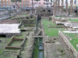 Archaeologists have now unearthed a concrete structure nearly 10 feet wide and 6.5 feet tall that may have been erected by Augustus, Julius Caesar's successor, to mark the assassination.