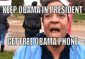 A viral video posted on YouTube in which a Cleveland, Ohio, woman praised the president, saying he needed to be re-elected because he gives out free phones has brought the issue to light.