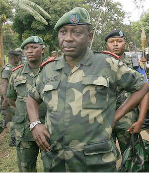 'We are the national army, we must not behave [or] put ourselves on the same illegal footing as M23,' General Francois Olenga said. Olenga spoke firmly and chillingly on those who disobeyed. 'What have we done with the traitors? We shot them.'