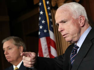 McCain and Graham are not impressed with the misleading comments made by Susan Rice in the wake of the Benghazi terrorist attacks.