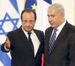 Israeli Prime Minister Benjamin Netanyahu, who is in the middle of the campaign season ahead of a January election, 'hopes to build a good working relationship with the French leader,' a source close to Netanyahu told journalists.