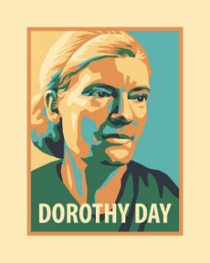 Dorothy Day rendering by an artist
