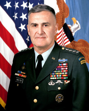There are a few surprises in the list. A former JCS chairman, appointed by President Bill Clinton, is retired Army General Hugh Shelton. In retirement, Gen. Shelton had aligned himself with Democrats, advising former Sen. John Edwards in his 2003-04 presidential run and endorsing Hillary Clinton in her 2008 presidential campaign.
