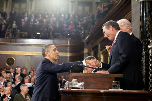 Obama and Boehner are the two main players in the fiscal cliff talks.