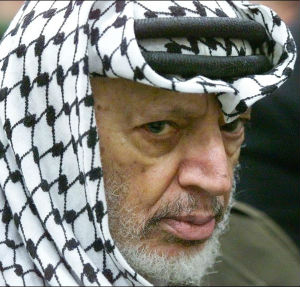 French authorities opened a murder inquiry into his death this year after high levels of polonium-210 were detected on Yasser Arafat's toothbrush, clothing and his keffiyeh, the trademark black-and-white headscarf he frequently wore.
