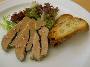 Foie gras is banned in California.