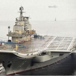The Pentagon report said another carrier, one made from components made in China, may already be under construction and be set to set sail in 2015.