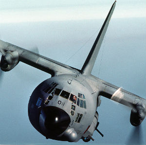 AC-130 gunship can deliver accurate fire against terrorists with laser guidance from the ground. But they need orders first...