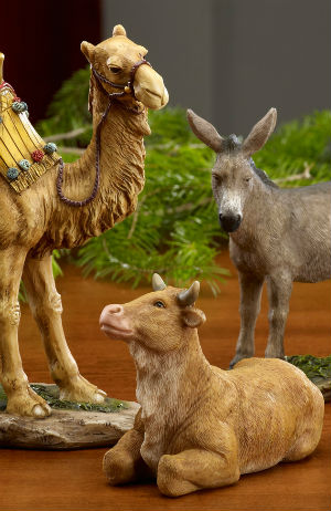 animals nativity were there present cattle pope faith gospels says catholic story jesus birth living representations evidence traditionally pictured actually