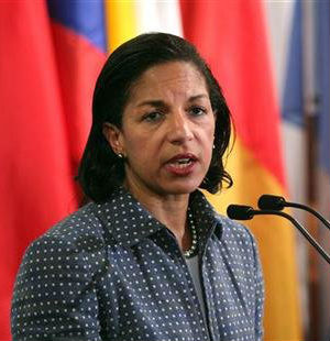U.S. Ambassador Susan Rice made no mention of terrorists last week on several news programs to say the attacks in Benghazi, Libya, were 'spontaneous' and appeared to be sparked by angry protests over an anti-Islamic film.
