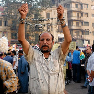 Egyptian demonstrator