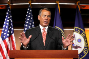 Boehner has announced a stalemate in talks with the President.