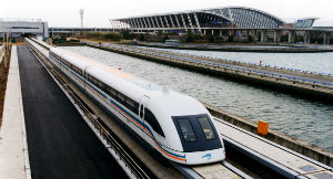 Maglev trains already operate in China such as this example in Shanghai.