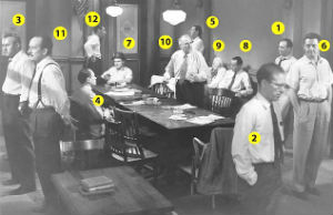 Hollywood classic: Klugman was last of the actors who portrayed the 12 Angry Men to die. The film brought together a dozen renowned stage and screen actors, a sparkling script and a visionary director. Pictured: Martin Balsam (Juror 1), John Fiedler (Juror 2), Lee J. Cobb (Juror 3), E G Marshall (Juror 4), Jack Klugman (Juror 5), Edward Binns (Juror 6), Jack Warden (Juror 7), Henry Fonda (Juror 8), Joseph Sweeney (Juror 9), Ed Begley (Juror 10), George Voskovec (Juror 11), Robert Webber (Juror 12).