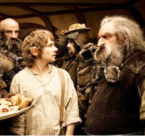 'The Hobbit' is the first in a planned trilogy by director Jackson, who previously mined box office gold with his 'Lord of the Rings' series, likewise based on the books of fantasy author J. R. R. Tolkien.