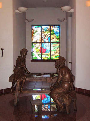 The workshop of Nazareth at Our Lady, Queen of the Universe in Orlando, Florida