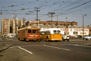 Streetcars once moved along the streets of Los Angeles until the 1960's.