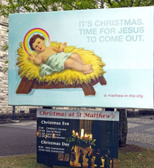 According to the Reverend Glynn Cardy, the billboards are intended to 'lift' the humanity of Jesus. The reverend says the billboard is asking the faithful if anything would have changed if Jesus had been gay.