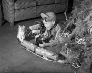 In the 1950s nothing made a young boy happier than finding an electric train under the Christmas tree.