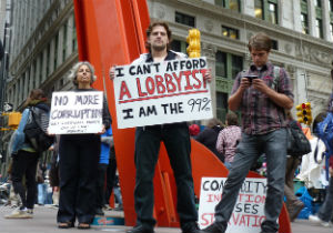 Most Americans can't afford a lobbyist because contrary to popular belief, wealth trickles up, not down.