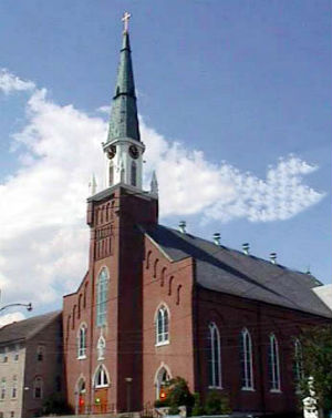 Ste. Genevieve Catholic Church in Ste. Genevieve, Missouri. is popular with tourists visiting the largely Catholic town, an hour south of St. Louis.