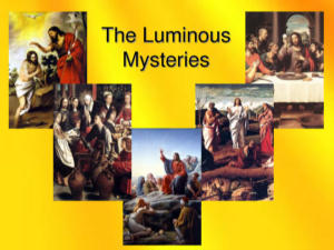 Praying The Rosary In The Year Of Faith The Luminous