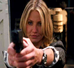 Cameron Diaz with her pistol