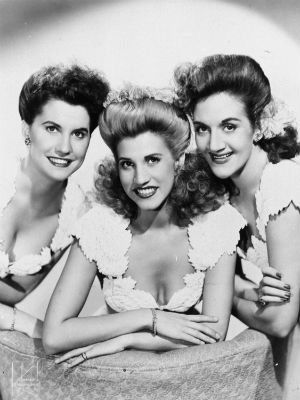 Patty Andrews was the lead singer of the Andrew Sisters, and was known as 'the sister in the middle.'